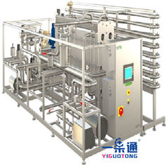 Tea Drinks Pasteurizer Machine , UHT Tubular Milk Pasteurization Equipment