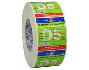 OEM Design Adhesive Sticker Paper Roll For Labeling Machine And Equipment